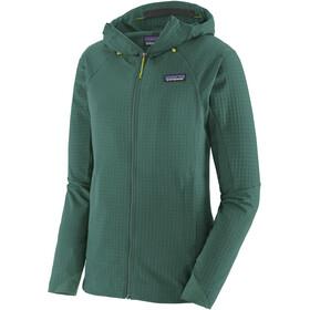 Patagonia R1 TechFace Hættetrøje Damer, grøn